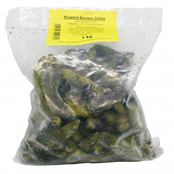 ROASTED SERRANOS 1kg bag , frozen, -18°C