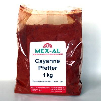 CAYENNE-PFEFFER gemahlen 1kg Beutel