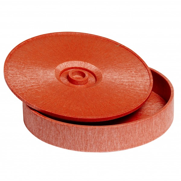 MAXI TORTILLA-SERVER aus braunem Kunststoff Ø 31cm H=7cm