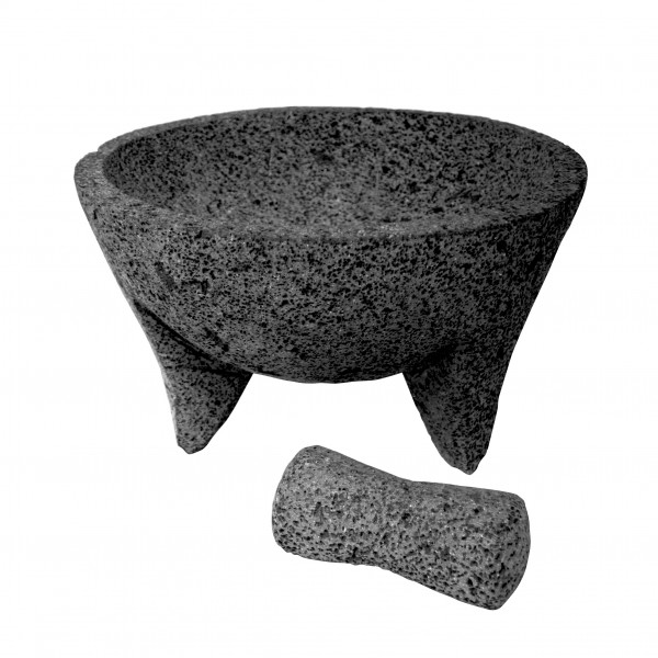 MOLCAJETE GRANDE, Gewürzmörser aus Lavastein Ø ca. 36 cm ca. H22 cm (SPERRGUT)