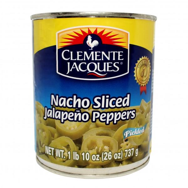 CHILES JALAPEÑOS NACHOS, grüne Scheiben, 737g Dose, MHD 20.08.20