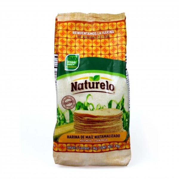 NATURELO MAISMEHL,WEISS für Tortillas und Tamales 1kg Beutel (GMO FREI)