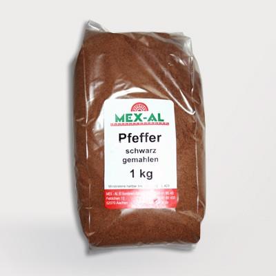 SCHWARZER PFEFFER gemahlen 1kg Beutel
