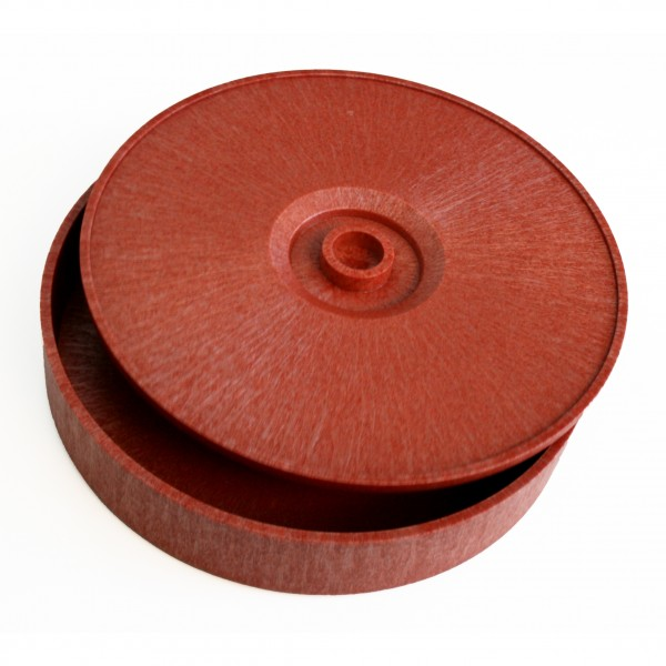 MIDI TORTILLA-SERVER aus braunem Kunststoff Ø 27,5cm H=7cm