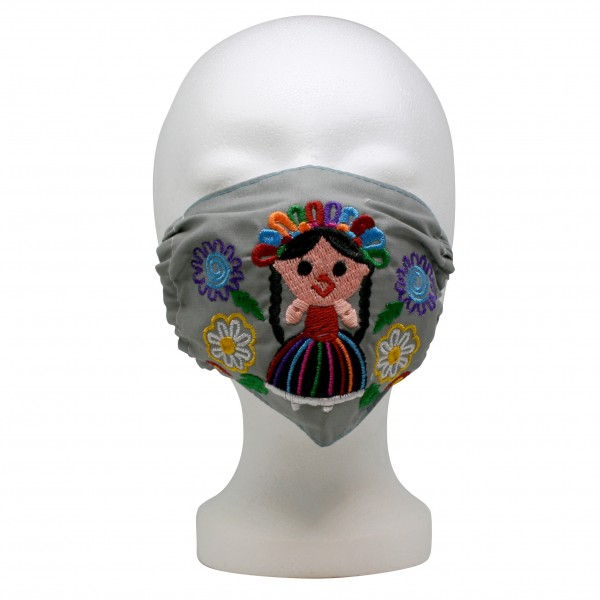 Mouth- and nosemask, mexican cotton, embroidered