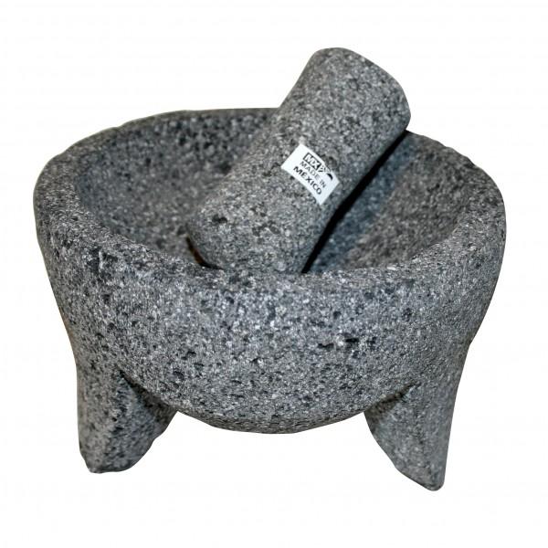MOLCAJETE CHICO, Gewürzmörser aus Lavastein Ø ca16,5 cm, ca. H.12,5 cm