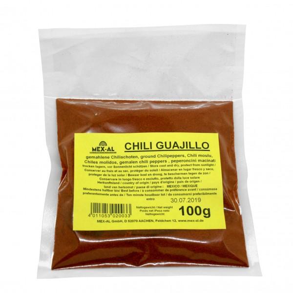 CHILES GUAJILLO gemahlen, 100g Beutel