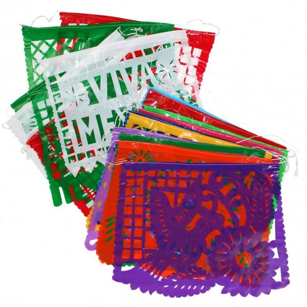 Scherenschnittgirlande aus Plastik 4m lang (10 Einzelblätter je ca. 40x32cm)