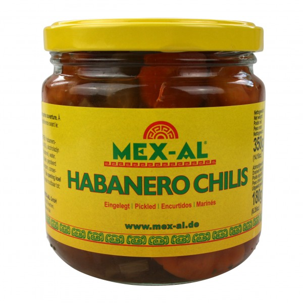 CHILES HABANEROS ENTIERS 350g bocal