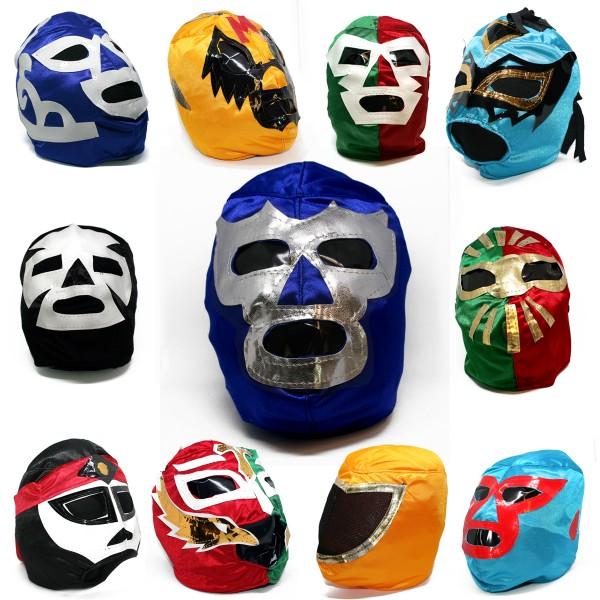 WRESTLING MASKE im Stil Luchador, für Kinder, dünn,diverse Formen u. Farben