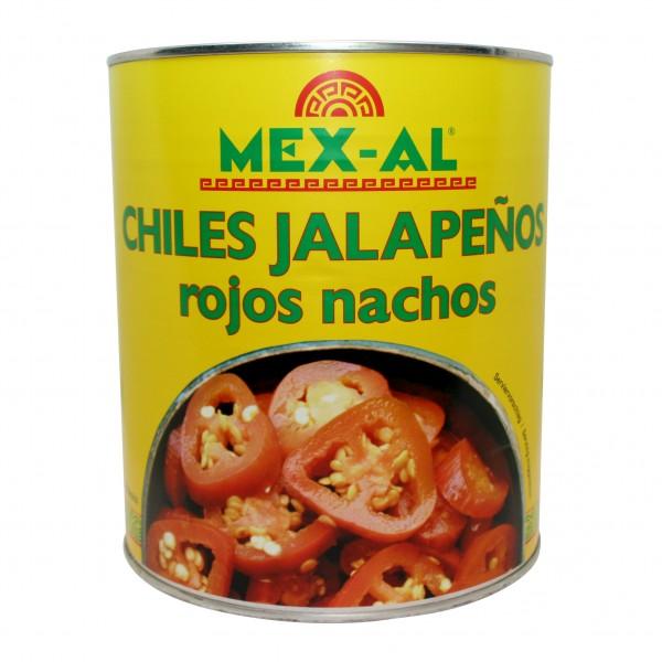 ROTE JALAPEÑOS NACHOS rote Jalapeñoscheiben, 2,8kg Dose