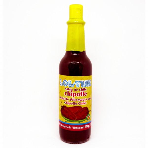 SALSA CHIPOTLE LOLTUN 140g Flasche