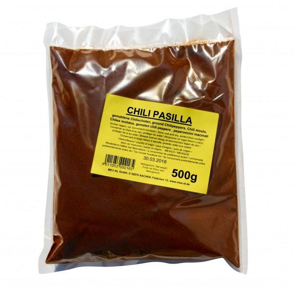 CHILES PASILLA, gemahlen, 500g Beutel