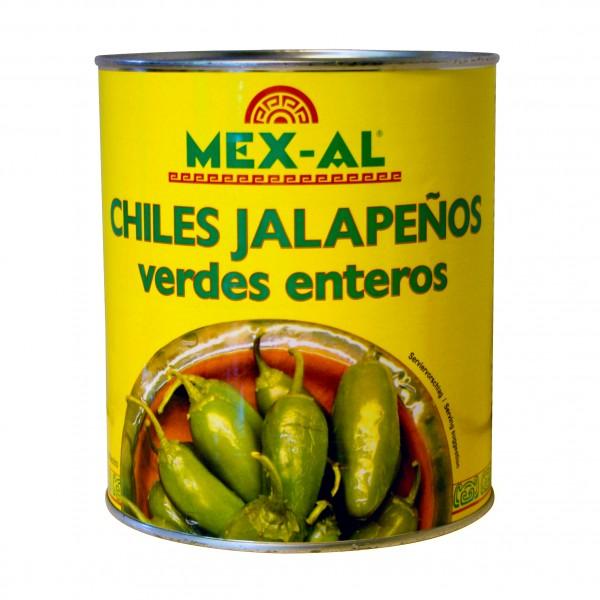 CHILES JALAPENOS, grün ganz 2,8kg Dose
