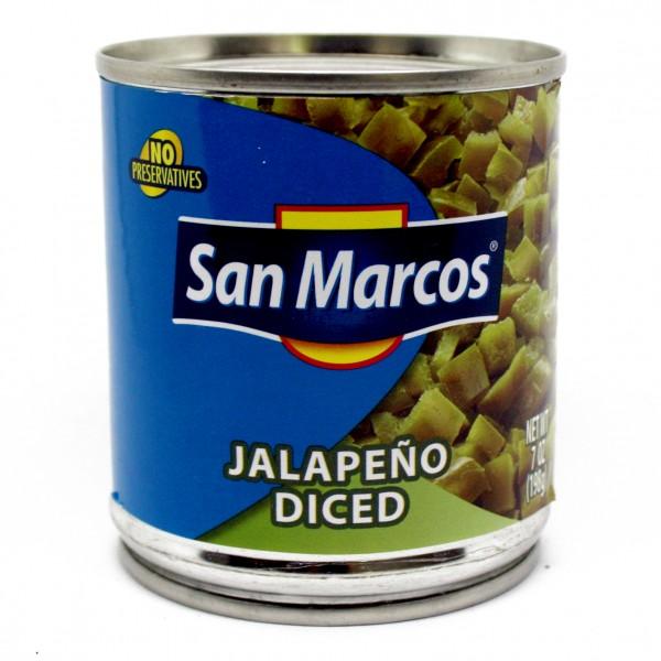 Diced Jalapenos, GEWÜRFELTE JALAPENOS grün, 198g Dose