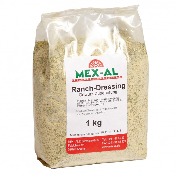 RANCH DRESSING MIX Gewürzzubereitung für Ranch Dressing 1kg Beutel