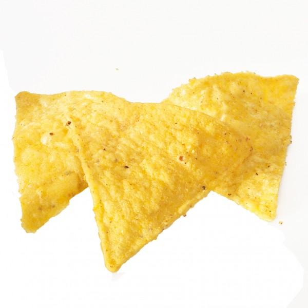 PRE CUT frittierfertige Maischipsdreiecke 8cm Kantenlänge 10kg Karton