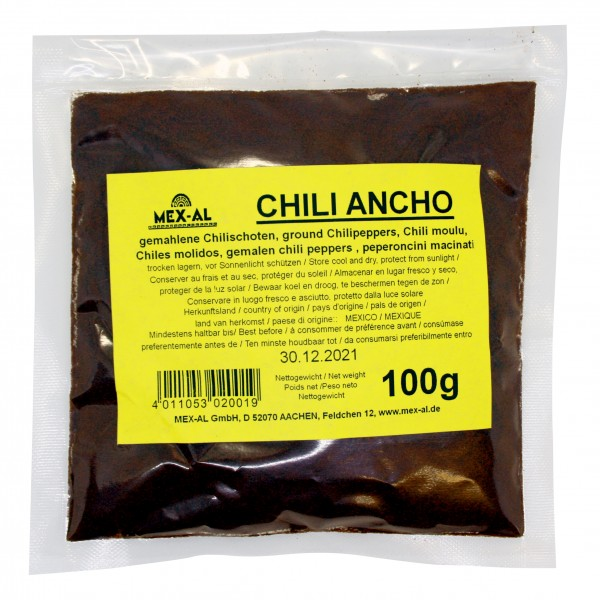 CHILES ANCHO gemahlen, 100g Beutel