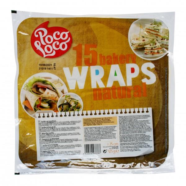 "POCO WRAPS AMBENT 10""Flourtortillas 25 cm, 6 bags à 15 Tortillas, 925g/bag"