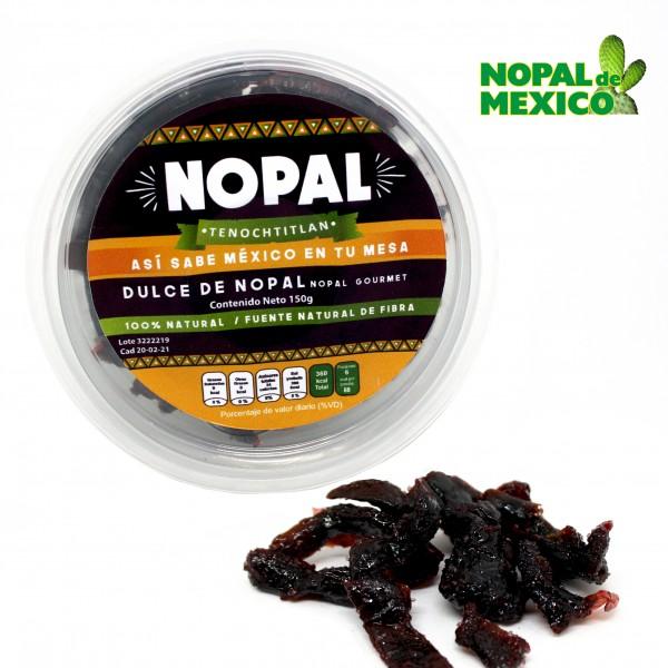 NOPAL DULCE, kandierte Kaktusstreifen, leicht sauer und gezuckert, 150g Becher