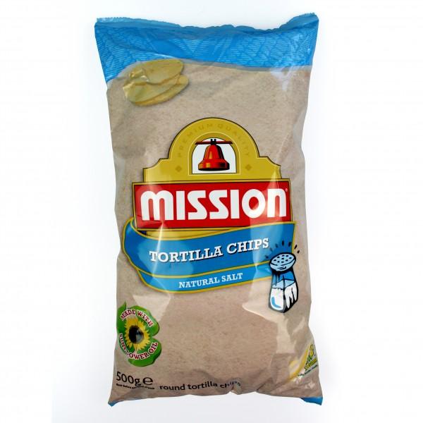 MISSION ROUND TORTILLACHIPS, runde Maischips 500g Beutel