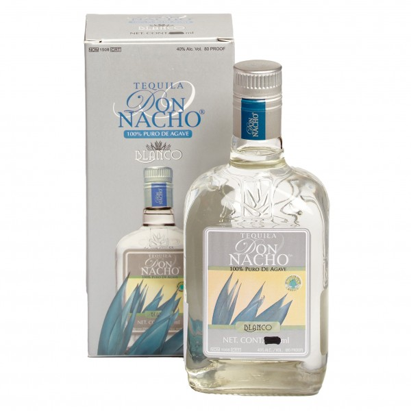 TEQUILA DON NACHO BLANCO 700ml 40%Vol 100%Agave Flasche