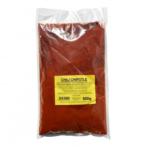 CHILES CHIPOTLE, gemahlen 500g Beutel