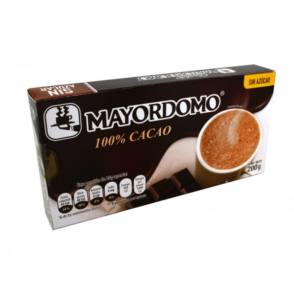CHOCOLATE Mayordomo 200g, mexican drinking chocolate without sugar 100% Cacao