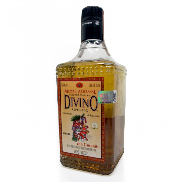 MEZCAL DIVINO reposado, 36%VOL, 100% Agave, 700ml Flasche