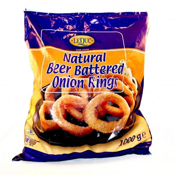 ONION RINGS Zwiebelringe natur in Bierteig 1kg Beutel, tiefgefroren (-18°C)