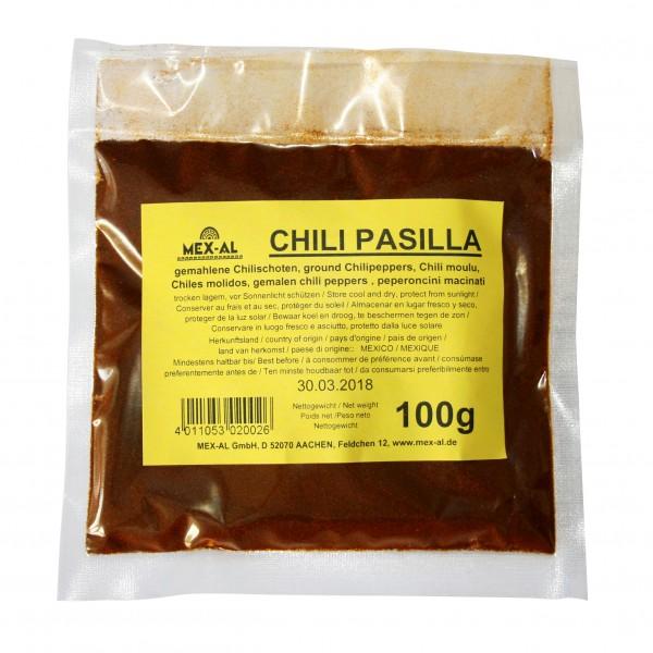 CHILES PASILLA gemahlen, 100g Beutel