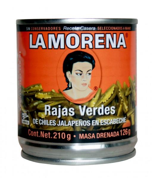 RAJAS VERDES green Jalapeñostripes en escabeche 199g can