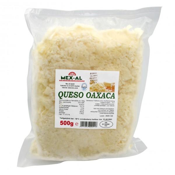 QUESO OAXACA, Oaxacakäse gerieben, 500g Beutel, tiefgefroren (-18°)