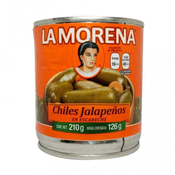 CHILES JALAPENOS VERDES en escabeche 210g Dose
