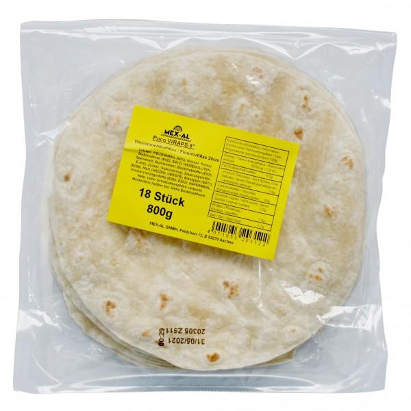 """AMBIENT TORTILLAS DE TRIGO 10"""", 18 piezas de 25cm por bolsa de 1,2kg"""