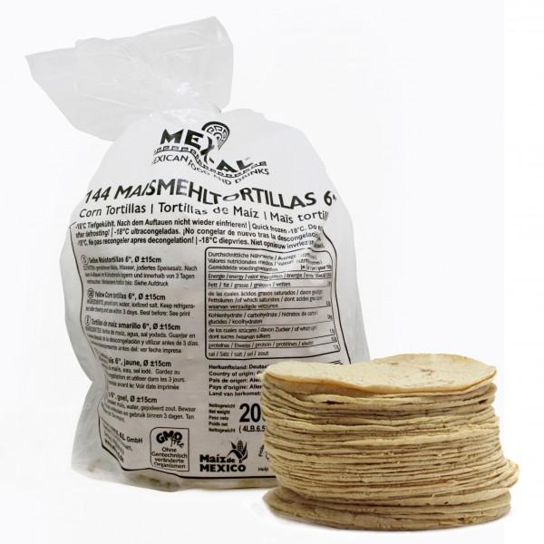 """MAISTORTILLAS 6"""" GELB, Ø ca15cm, 15g, 144 Stück Beutel"""