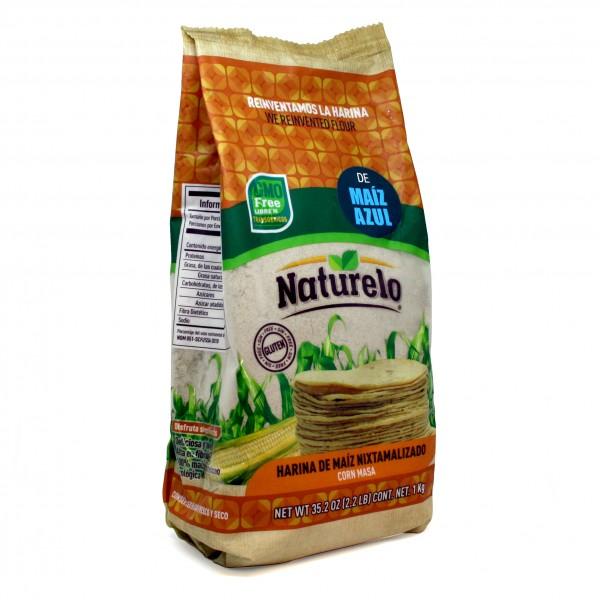 MAISMEHL aus BLAUEM MAIS, NATURELO, 1kg Beutel GMO-FREI