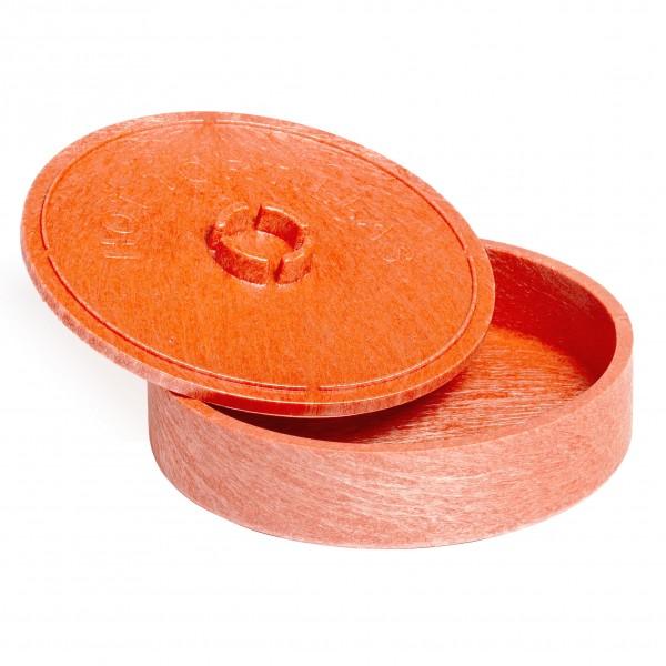 MINI TORTILLA-SERVER aus braunem Kunststoff Ø19cm H= 5cm