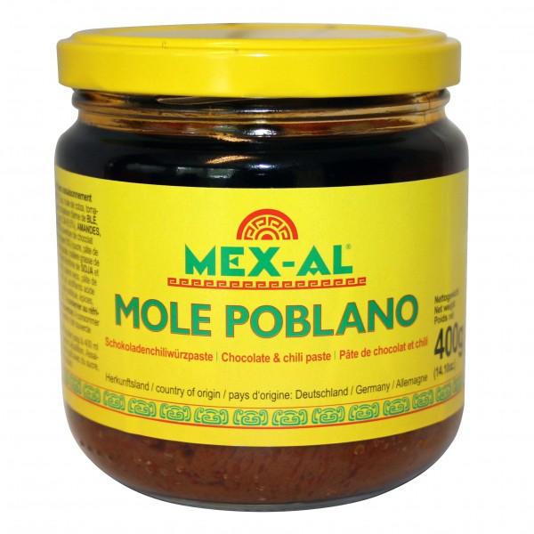 MOLE POBLANO MEX-AL Schokoladenchiliwürzpaste 400g Glas