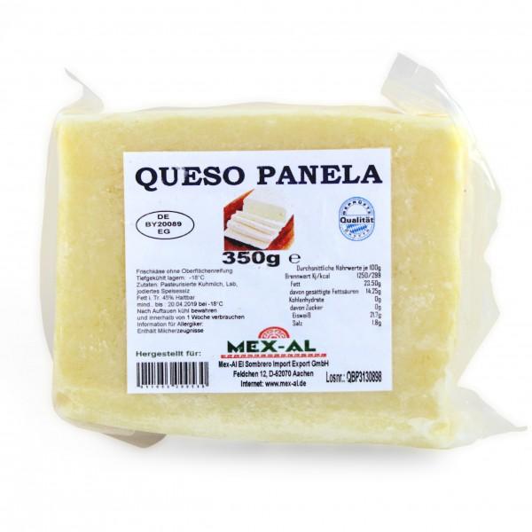QUESO BLANCO PANELA, queso parrilla, 350g bolsa, congelado (-18°C)