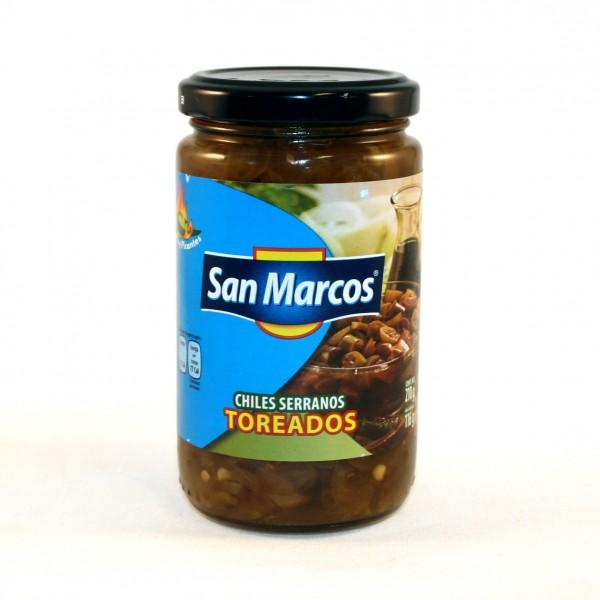 CHILES SERRANOS TOREADOS, 210g Glas