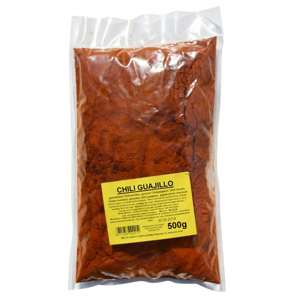 CHILES GUAJILLO, gemahlen, 500g Beutel