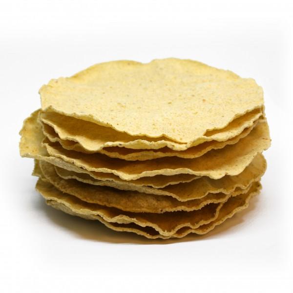 TOSTADAS, gebackene Maistortillas, Ø 14cm, 11g, 10 Stück/Karton, 110g glutenfrei