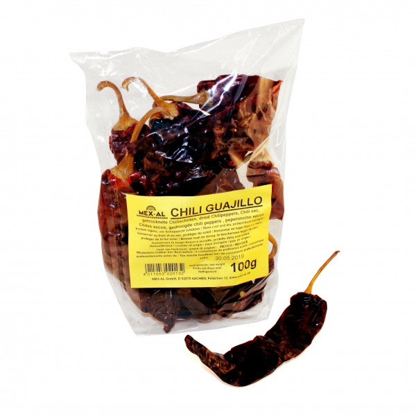 CHILES GUAJILLO GANZ, trocken, 100g Beutel