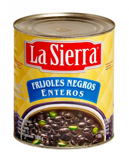 FRIJOLES NEGROS ENTEROS ganze schwarze Bohnen 3kg Dose