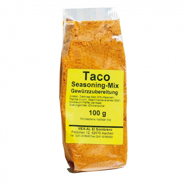Taco Seasoning Mix Seasoningmix For Taco Beef 100g Bag Spices Food Mex Al Gmbh Webshop For Mexican Food And Drinks